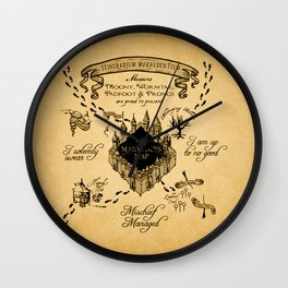 Marauders Map Wall Clock
