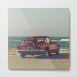 Red Supercar, classic car, triumph, spitfire, color photo, interior design, old car, auto Metal Print