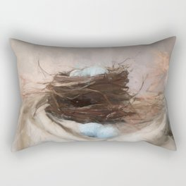 Bird Nest 2 Rectangular Pillow