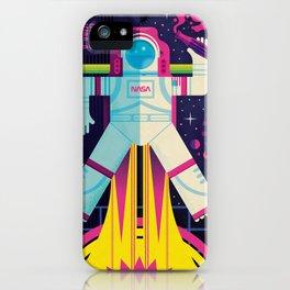 Space Man Rocket Pop iPhone Case