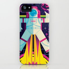 Space Man Rocket Pop iPhone Case