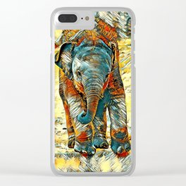 AnimalArt_Elephant_20171201_by_JAMColorsSpecial Clear iPhone Case