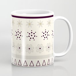 Bohemian rhapsody pattern - light cream Coffee Mug