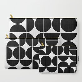 Mid Century Modern Geometric 04 Black Carry-All Pouch