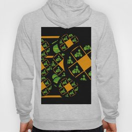 Orange and Green Spaces 100 Hoody