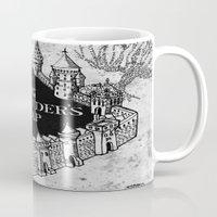quidditch Mugs featuring Marauders Map by bimorecreative