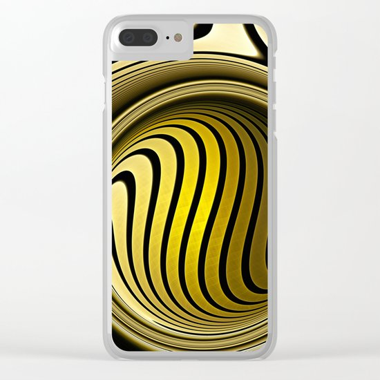 Turning into gold Clear iPhone Case