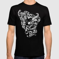 Horror Doodle LARGE Black Mens Fitted Tee