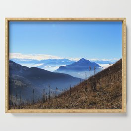 Mountains for miles Serving Tray