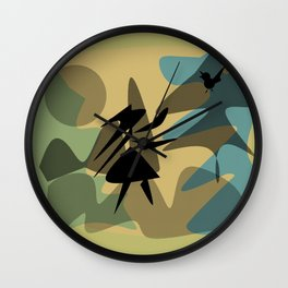 Walk In The Forest Wall Clock