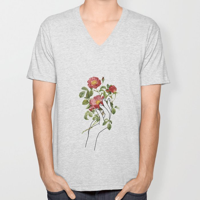 Flower in the Hand II Unisex V-Neck