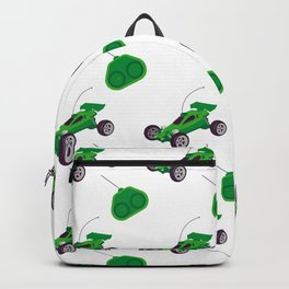 radio-controlled cars pattern Backpack
