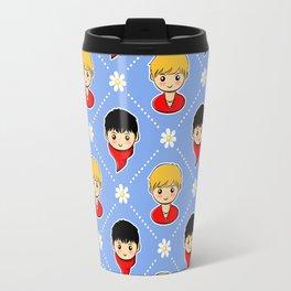 Merlin and Arthur and Daisies Travel Mug