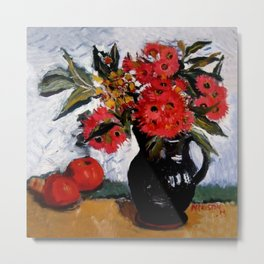 """""""Still Life With Eucalyptus and Apples"""" by Margaret Preston Metal Print"""