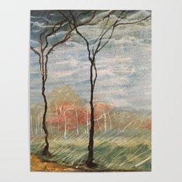 Pastel Wood Poster