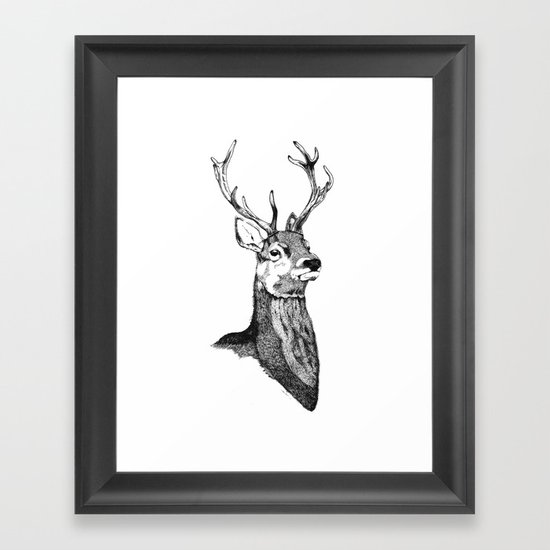 Noble Stag Framed Art Print