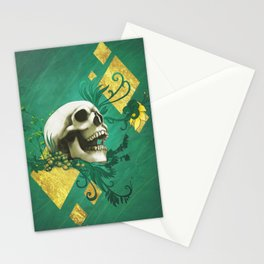 Peridot - Skull design Stationery Cards