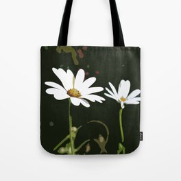 White Daisy Tote Bag