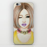 2ne1 iPhone & iPod Skins featuring Minzy Gong (2NE1) by Hileeery
