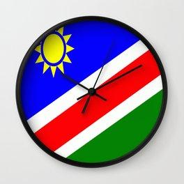 Flag of Namibia Wall Clock