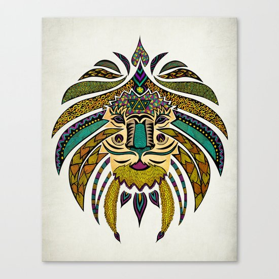Emperor Tribal Lion Canvas Print