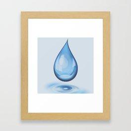 Water Drop Art Framed Art Print