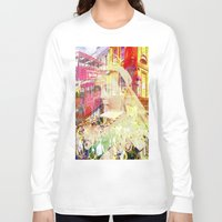 england Long Sleeve T-shirts featuring Old England by Joe Ganech