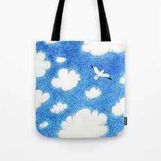Seagull in the sky Tote Bag