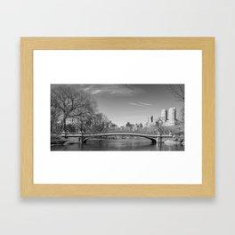 Bow Bridge in Monochrome Framed Art Print