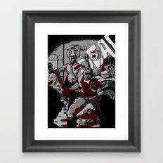 Zombie Rush (Gray Tone Version) Framed Art Print