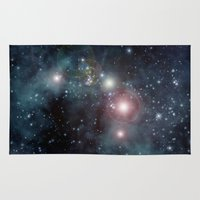 outer space Area & Throw Rugs featuring Outer Space by apgme
