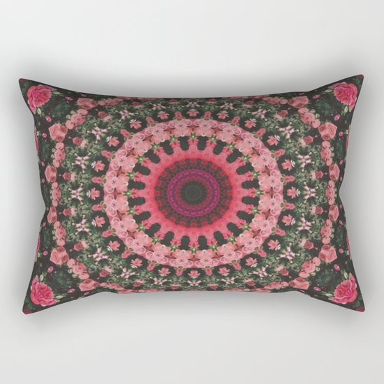 Spiritual Rhythm Mandala Rectangular Pillow