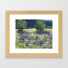 Fields of White and Purple Framed Art Print