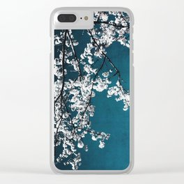 white blossoms Clear iPhone Case