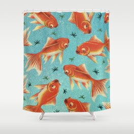 Goldfish Pattern Shower Curtain