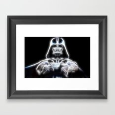 Darth Vader Electric Ghost Framed Art Print