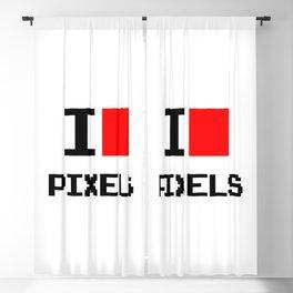 I Love Pixels, nerd t shirt, geek poster, Blackout Curtain