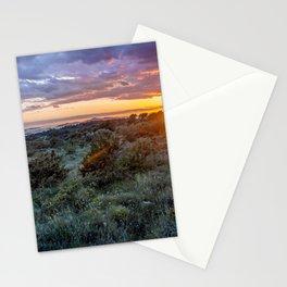 colorful sunset over the Ciovo island, Croatia Stationery Cards