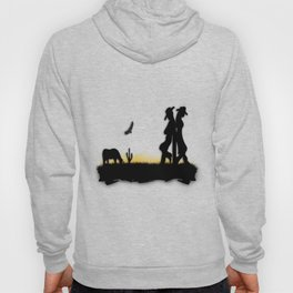 Western Cowboy and Cowgirl on the Range Hoody