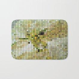 Pale Yellow Poinsettia 1 Mosaic Bath Mat
