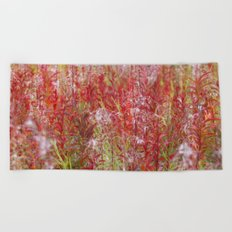 On fire Beach Towel