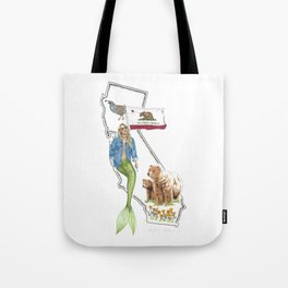 California Mermaid Tote Bag