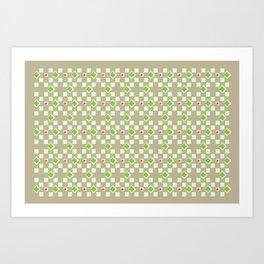 Woven Pattern 3.0 Art Print