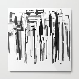 City in Black and White Metal Print