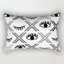 Original Black and White Eyes Design Rectangular Pillow