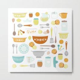 Citrus Kitchen Metal Print
