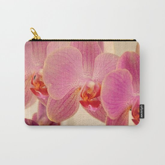 Triplet pink orchids  Carry-All Pouch