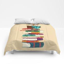 Owl Reading Rainbow Comforters