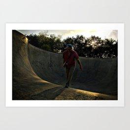 Skate Park Sun Down Art Print