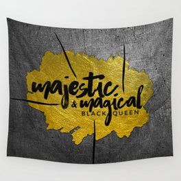 MAJESTIC & MAGICAL BLACK QUEEN Wall Tapestry